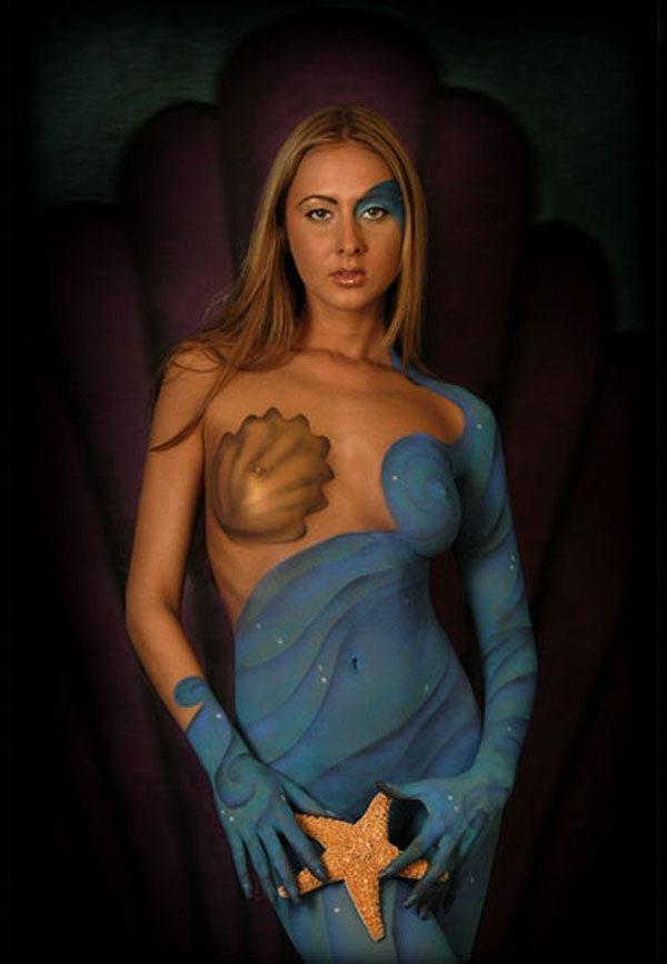 Звезда эстрады рисунки на голых телах девушек вечеринки дансинг
